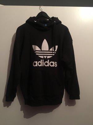 Adidas Originals Pull à capuche noir-blanc