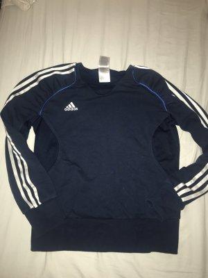 Adidas Sweatshirt bleu foncé-blanc