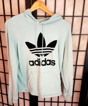 Adidas Capuchon sweater turkoois
