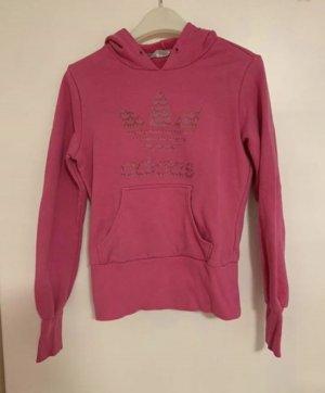 Adidas Pull à capuche rose