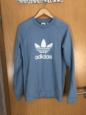 Adidas Jersey de cuello redondo blanco-azul celeste