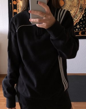 Adidas Fijn gebreide cardigan zwart-wit