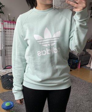 Adidas Pull ras du cou vert menthe