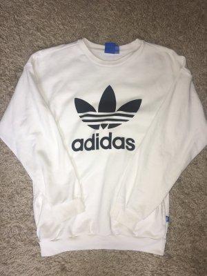 Adidas Oversized trui wit-zwart