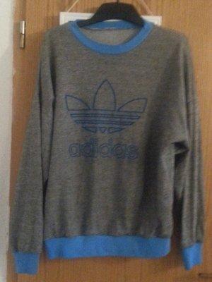 Adidas Pull oversize gris-bleu