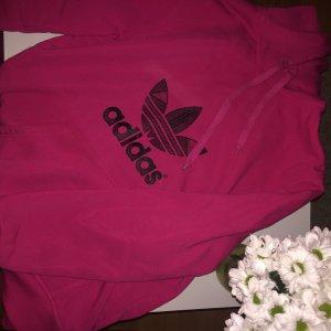 Adidas Jersey con capucha rosa neón