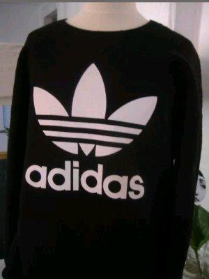 """adidas Pullover Jumper Swealer Oversized Schwarz Druck """"Wolle"""" 34-40"""