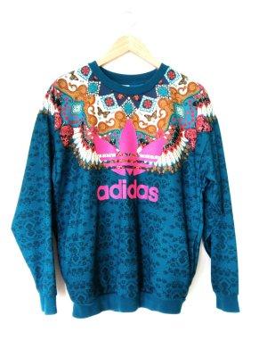 Adidas Oversized trui blauw