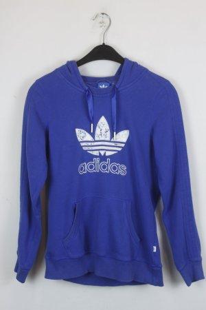 Adidas Jersey con capucha azul-blanco Algodón
