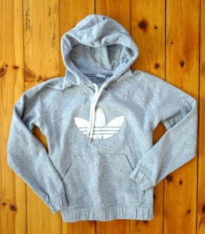 Adidas Pullover Sweater Kapuze grau Gr. 42