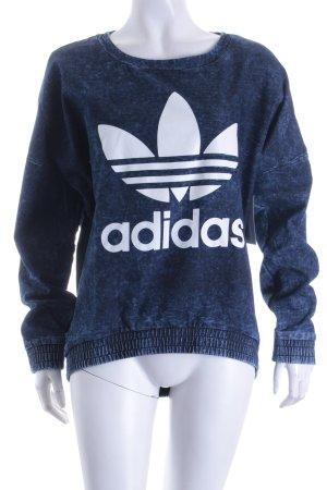 Adidas Pullover weiß-blau Casual-Look