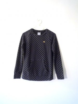 *Adidas* Punkte-Pullover mit Bauchtasche, anthrazit