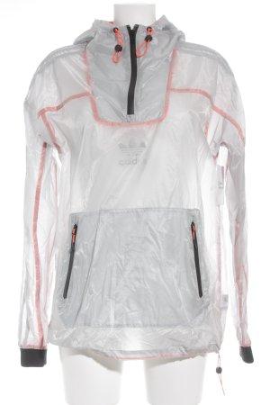 Adidas Regenjacke hellgrau sportlicher Stil