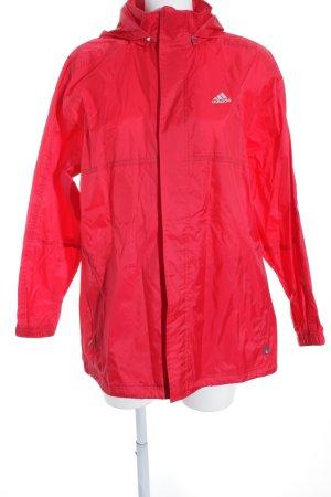 Adidas Regenjacke rot Casual-Look