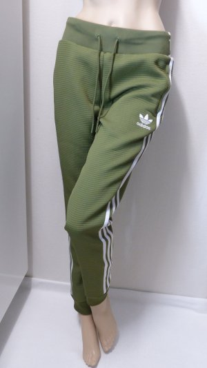 Adidas Trackies olive green-white polyester