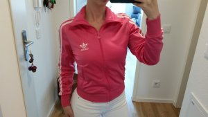 Adidas Giacca sport rosa-bianco