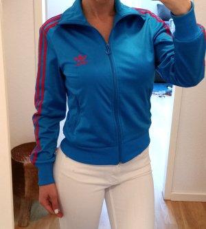 Adidas Giacca sport blu-rosso lampone