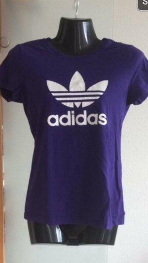 Adidas Camiseta estampada violeta oscuro-blanco