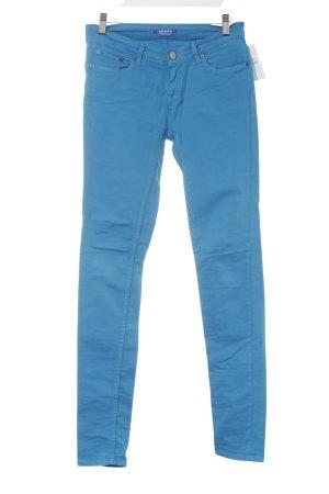 Adidas Pantalón de tubo azul neón estilo deportivo