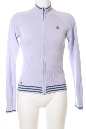 Adidas Turtleneck Sweater lilac-blue striped pattern casual look