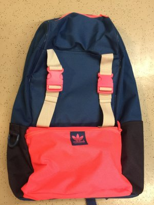 Adidas Schoolrugzak donkerblauw-roze