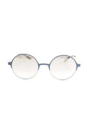 Adidas runde Sonnenbrille weiß-blau sportlicher Stil