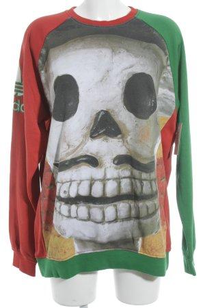 Adidas Jersey de cuello redondo estampado repetido sobre toda la superficie