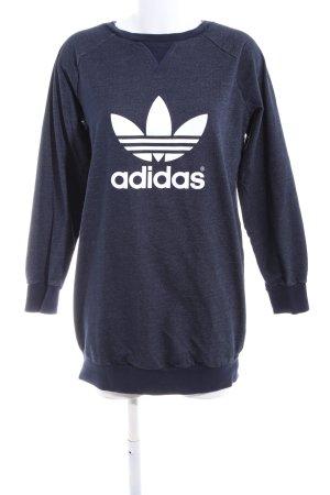 Adidas Crewneck Sweater blue themed print casual look
