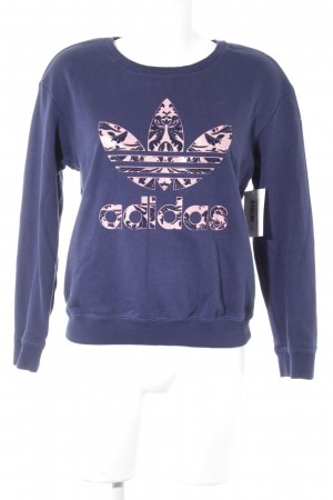 Adidas Rundhalspullover dunkelblau-lachs Street-Fashion-Look