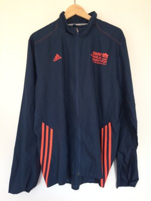 Adidas Veste de sport bleu-orange