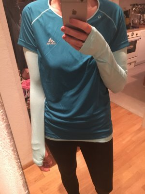 Adidas Running Shirt doppellagig mint Türkis M