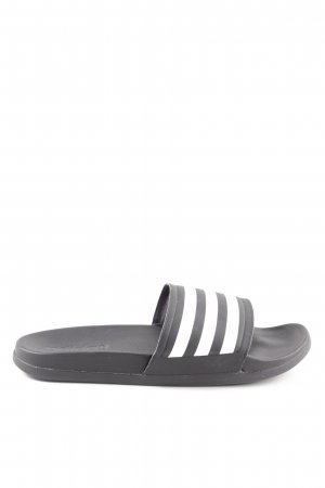Adidas Sabots black-white striped pattern athletic style