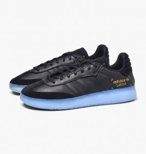 Adidas Zapatilla brogue negro-azul celeste Cuero