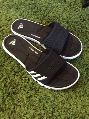 Adidas High-Heeled Sandals black-white