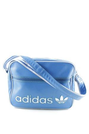 Adidas Cartella bianco-blu fiordaliso motivo a righe stile casual