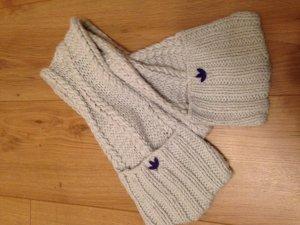Adidas Gebreide sjaal zilver-donkerpaars