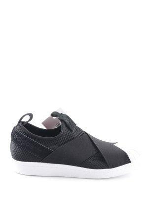 5020f82aa123e6 Adidas Schlüpfsneaker schwarz-weiß Mustermix sportlicher Stil