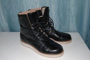 Adidas Bottines à lacets noir faux cuir