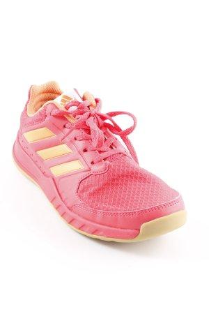 Adidas Schnürschuhe hellrot-neonorange sportlicher Stil