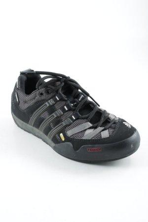 Adidas Schnürschuhe schwarz-grau sportlicher Stil