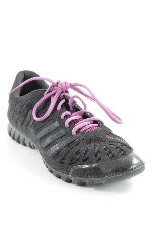 Adidas Schnürschuhe schwarz-pink sportlicher Stil