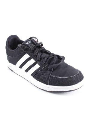 Adidas Schnürschuhe schwarz-weiß sportlicher Stil