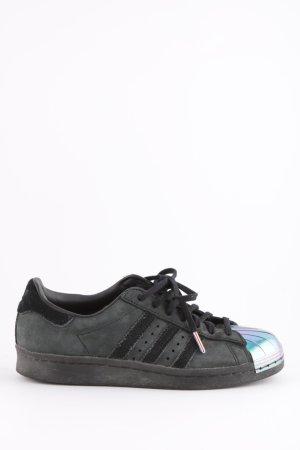 Adidas Schnürsneaker schwarz-silberfarben Casual-Look