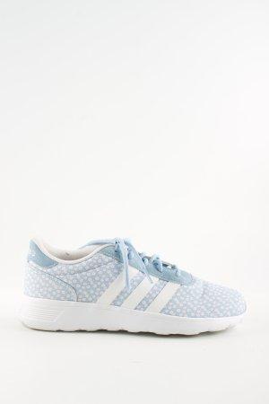 Adidas Schnürsneaker blau-weiß Allover-Druck Casual-Look