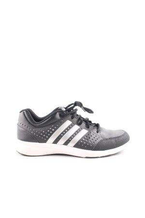 Adidas Schnürsneaker schwarz-weiß Streifenmuster Casual-Look