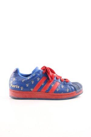 Adidas Zapatilla brogue azul-rojo ladrillo look vintage
