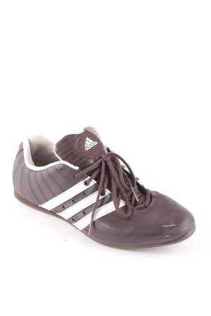 Adidas Schnürsneaker braun-weiß sportlicher Stil