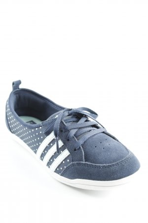 Adidas Schnürsneaker dunkelblau-hellblau Punktemuster sportlicher Stil
