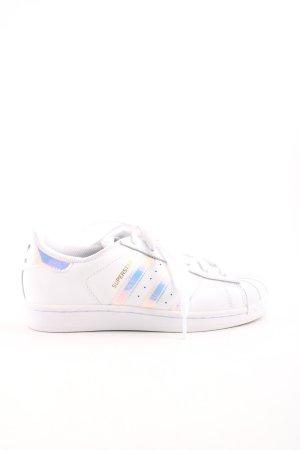 Adidas Zapatilla brogue blanco-color plata moteado look casual