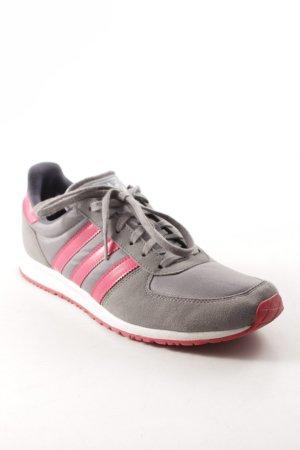 Adidas Schnürsneaker grau-magenta sportlicher Stil